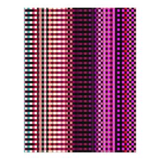"""Modelo abstracto rosado de neón colorido folleto 8.5"""" x 11"""""""