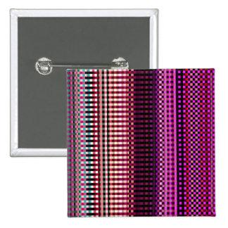 Modelo abstracto rosado de neón colorido pin cuadrado