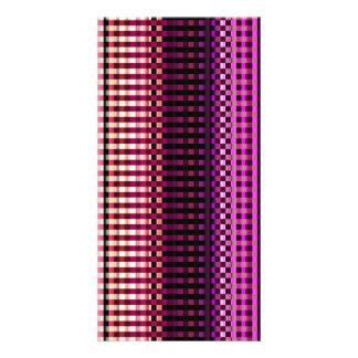 Modelo abstracto rosado de neón colorido tarjetas con fotos personalizadas
