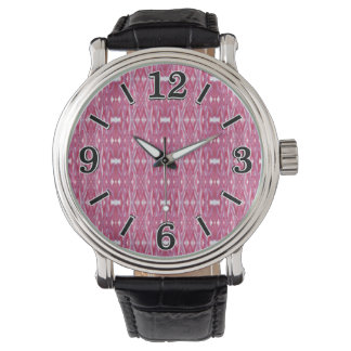 Modelo abstracto rosado moderno de la acuarela relojes de mano