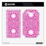 Modelo abstracto rosado calcomanía para HTC sensation