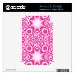 Modelo abstracto rosado skin para el iPhone 2G