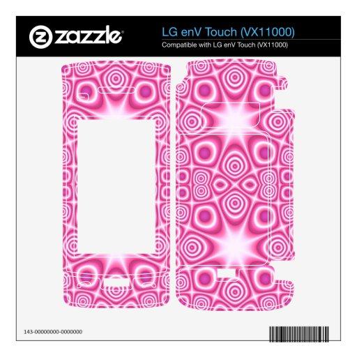 Modelo abstracto rosado skin para el LG enV touch
