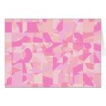 Modelo abstracto rosado tarjeta de felicitación
