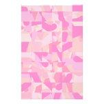 Modelo abstracto rosado tarjeton