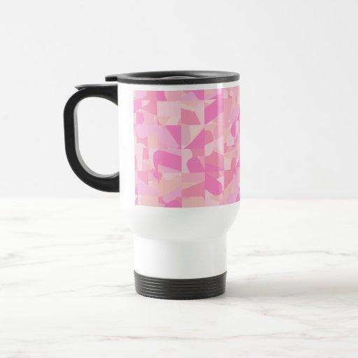 Modelo abstracto rosado tazas de café