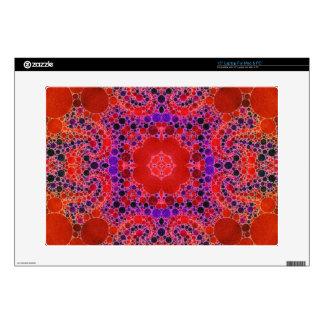 Modelo abstracto único anaranjado fluorescente portátil 38,1cm skins