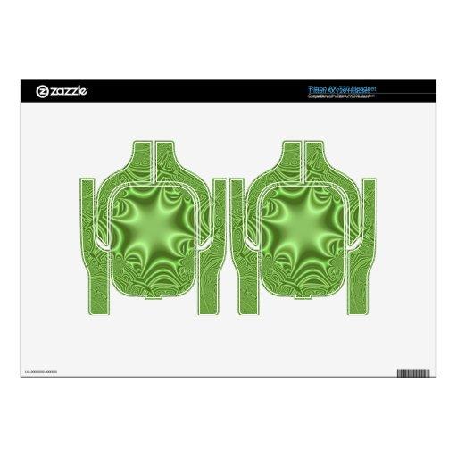modelo abstracto verde auriculares skin