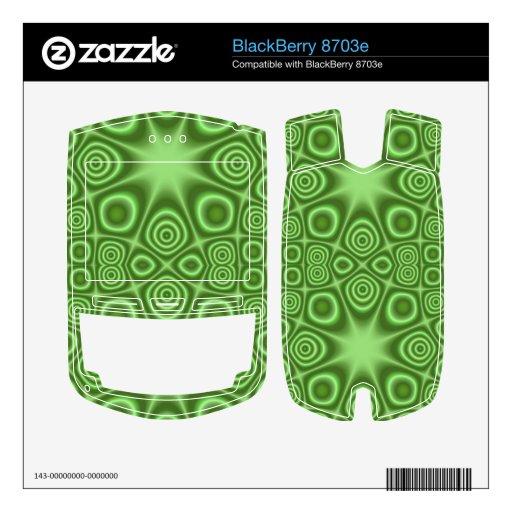 Modelo abstracto verde BlackBerry 8703e skin