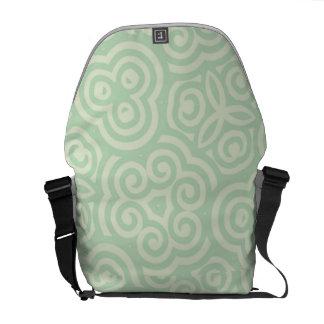 Modelo abstracto verde bolsa messenger
