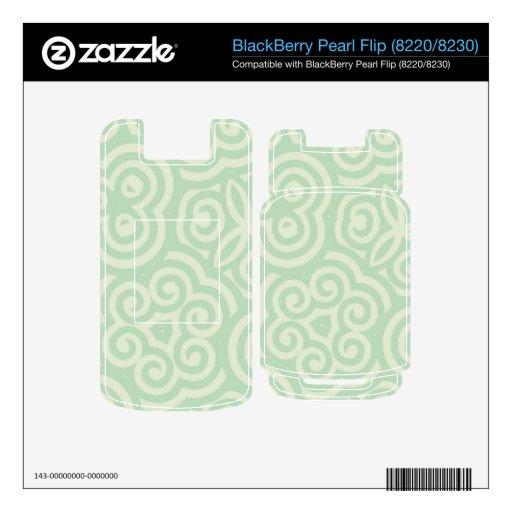 Modelo abstracto verde calcomanías para BlackBerry