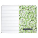 Modelo abstracto verde claro cuaderno