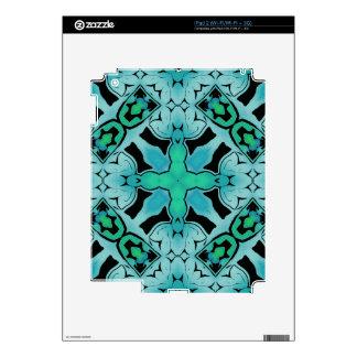 Modelo abstracto verde de la moda de la cadera del calcomanía para iPad 2