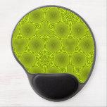 Modelo abstracto verde del círculo alfombrilla gel