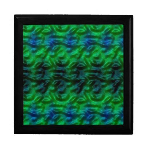 Modelo abstracto verde extraño caja de regalo
