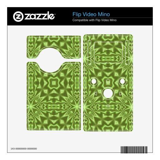modelo abstracto verde flip video mino skin