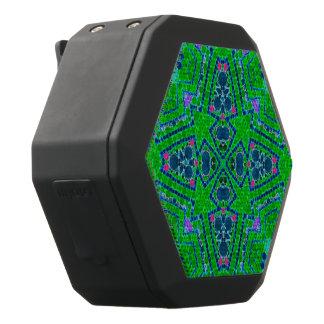Modelo abstracto verde fluorescente altavoces bluetooth negros boombot REX