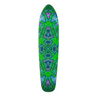 Modelo abstracto verde fluorescente skateboards