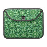 Modelo abstracto verde funda para macbooks