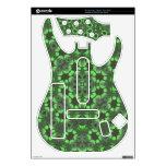 Modelo abstracto verde guitar hero calcomanía