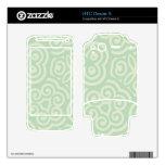 Modelo abstracto verde HTC desire s calcomanía