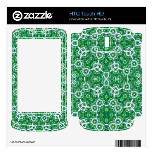 Modelo abstracto verde HTC touch HD skin