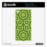 Modelo abstracto verde iPhone 4 skins