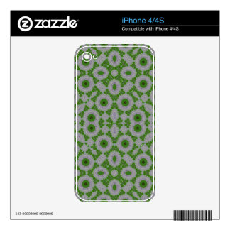 Modelo abstracto verde iPhone 4S skins