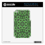 Modelo abstracto verde iPod touch 4G calcomanías