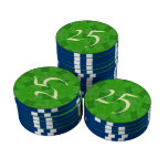 Modelo abstracto verde juego de fichas de póquer