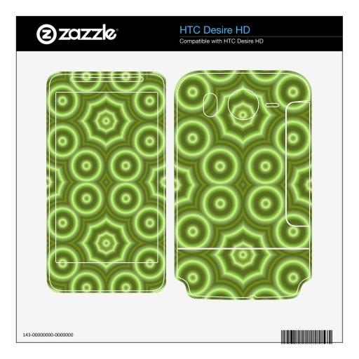 Modelo abstracto verde calcomanía para HTC desire HD