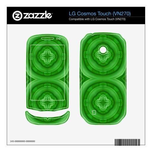 Modelo abstracto verde LG cosmos touch calcomanías