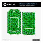 Modelo abstracto verde MOTORAZR2 v9 skin