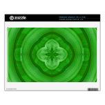 Modelo abstracto verde netbook calcomanías