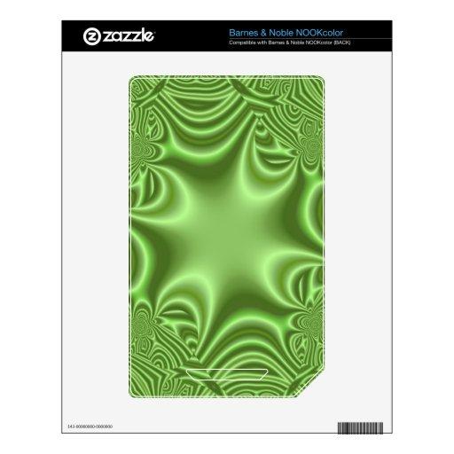 modelo abstracto verde NOOK color calcomanías