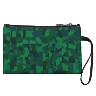 Modelo abstracto verde oscuro