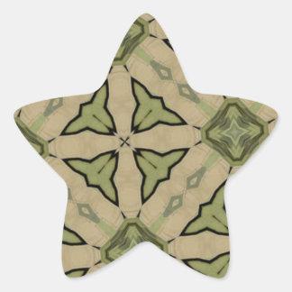 Modelo abstracto verde pegatina en forma de estrella