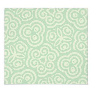 Modelo abstracto verde impresiones fotograficas