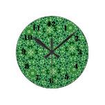 Modelo abstracto verde reloj de pared