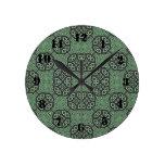 Modelo abstracto verde relojes de pared