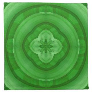 Modelo abstracto verde servilleta