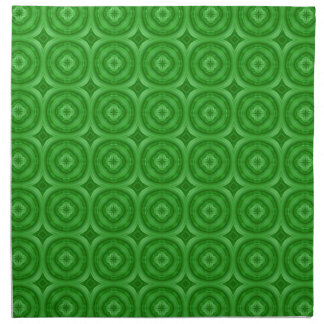 Modelo abstracto verde servilleta imprimida