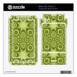 Modelo abstracto verde motorola droid x calcomanías