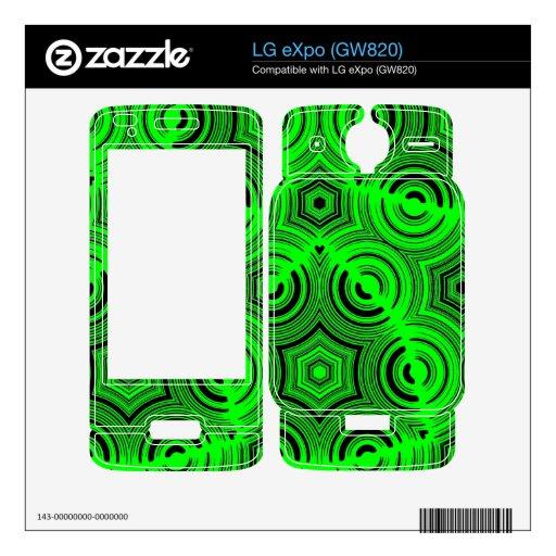Modelo abstracto verde skin para el LG eXpo