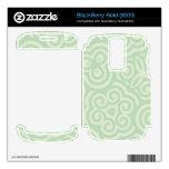 Modelo abstracto verde skins para BlackBerry bold