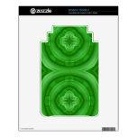 Modelo abstracto verde skins para elKindle 3