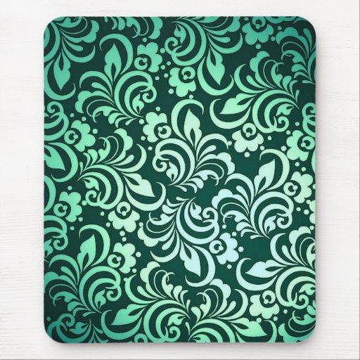 Modelo abstracto verde tapete de raton