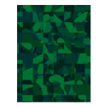 Modelo abstracto verde tarjetas postales