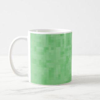 Modelo abstracto verde taza básica blanca