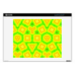 Modelo abstracto verde y amarillo 35,6cm portátil calcomanía